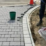 Berkshire block paved driveway progression