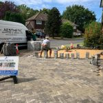 Berkshire fitting a block paved drive